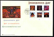 (Ref-6292) United Nations 2003 Indigenous Art - M/Sheet on a FDC New York Office