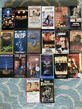 vhs Movies Lot Of 20 Vhs's Tapes Batman The Lost World The Deep Tombstone Etc