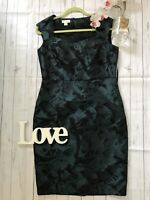 Monsoon Size 12 green fitted metallic emerald party dress occasion celebration