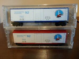 Kadee Special Run Washington Convention 1982 50' Boxcars Red & Blue N Scale