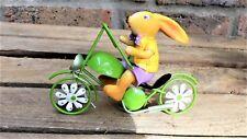Hase auf Fahrrad Metall Deko Figur Ostern Dekofigur Metall 13 X 5 X 9 cm