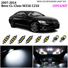 15Bulb HID White 6K Interior Light Kit LED For 2007-2014 Benz CL-Class W216 C216