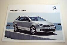 Volkswagen . Golf . The Golf Estate . October 2012 Sales Brochure