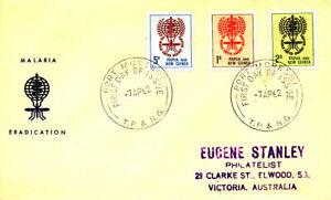MALARIA MOSQUITO INSECTS HEALTH MEDICINE 1962 PAPUA NEW GUINEA FDC