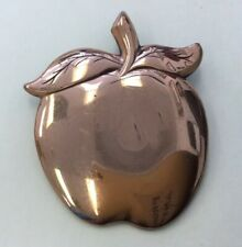 Vintage Copper Plated Costume Apple Pendant MD21