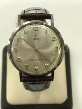 Vintage Tudor Shock Resisting Manual Wind 17 Rubies Jewels 34mm Watch