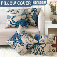 Fashion Sea Starfish Waist Throw Pillow Case Sofa Cushion Cover Home Decor 45CM