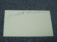 Jeanette Piccard Autographed Index Card