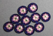 10 x 12 mm 'FLOWER' Cabochons      (E526)