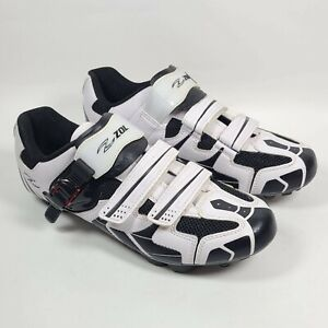 Zol Mtb Indoor Cycling Shoes Size 11.5 Black & White Gently Used