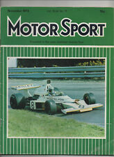 MOTOR SPORT NOVEMBER 1973