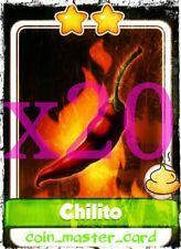 Coin Master Chilito 20 x Card