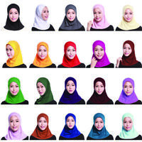 Muslim Women Mini Scarf Islamic Headwear Headwrap Hat Full Cover Cap Hijab