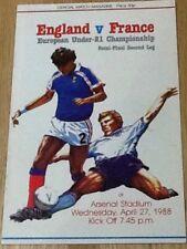 England v France - UEFA under-21 Championship SF/2L 27Apr88