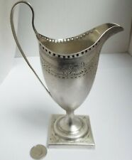 STUNNING CLEAN ENGLISH ANTIQUE 18TH CENTURY GEORGIAN 1787 SOLID SILVER CREAM JUG