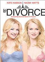 Le Divorce (DVD, 2004, Dual Side) DVD Disc Only V1