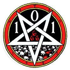 CLICHE x 101 patrimonio SKATEBOARD Sticker - 666 a testa in giù Pentagramma-Skate sk8