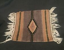 "El Paso Saddle Blanket Co. Wool Navajo Indian Style Accent Rug 14"" x 10"""