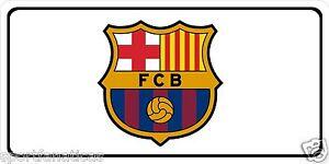FC BARCELONA Photo License Plate Lionel Messi