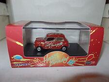 Oxford MIN017 1/43 O Scale BMC Leyland Mini Car Red Happy Birthday Gift