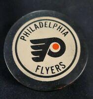 Vintage NHL Official Philadelphia Flyers Czechoslovakia Rubber Puck Bold Font