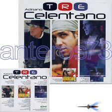 """ADRIANO CELENTANO """"TRE"""" RARISSIMO BOX 2 CD + 1 DVD 2003 - SIGILLATO"""