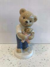 B&G Bing & Grondahl 2007 Victor Porcelain Teddy Bear Figurine Father Daughter