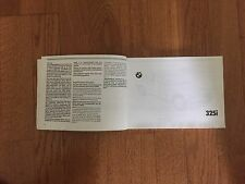 BMW 325i Owners Manual with Case