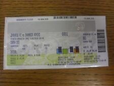 05/08/2010 billet: Juventus V SHAMROCK ROVERS [UEFA Champions League] (vert & G