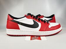 Air Jordan I 1 Low CHICAGO BULLS WHITE RED BLACK BRED 705329-600 sz 18