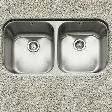 "Great Deal-32"" Undermount Dbl Bowl Kitchen Sink with 2 free strainers #R3219AD-9"
