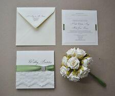 Vintage Design Square wedding/evening invitation Diamante lace Square Diamante