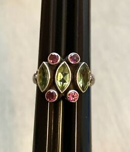 Nicky Butler Sterling Silver Ring Peridot & Amethyst