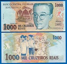 Brazil P-240 1000 Cruzeiros Reais Year ND 1993 Uncirculated Banknote