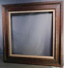 Vintage Modern Reverse Cassetta Picture Frame Dark Brown Varnish 20x20 Classical