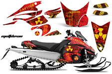 AMR Racing Sled Wrap Yamaha FX Nytro Snowmobile Graphics Kit 08-14 MELTDOWN YLLW