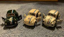 1:38 VW Volkswagen Beetle Bug 3 Color Pack Herbie Replica Pull Back