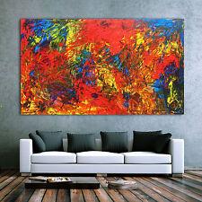 Abstraktes Acrylbild XXL Gemälde Malerei abstrakt Kunst Großformat 120x200cm