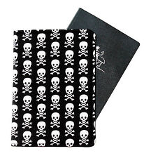 PASSPORT COVER/FOLDER/WALLET - PIRATE SKULLS crafted by Graggie Australia*GA