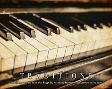 Musical Instruments Motivational Poster Art Print Piano Band Sheet Music MVP182