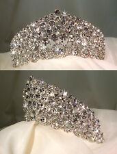Crystal Italian Designer Tiara Bridal Comb - Clear Crystal GBT071