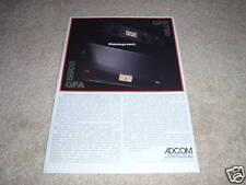 Adcom GFA 5802, GDP 750 Amp, Preamp Ad, article, specs