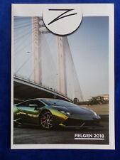 Z Performance Felgen 2018 Wheels Alufelgen Tuning - Poster Prospekt 2017