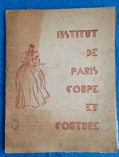 INSTITUT DE PARIS COUPE ET COUTURE