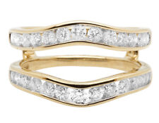 14K Yellow Gold Bridal Symmetrical Jacket Wedding Ring Guard Enhancer 1.0Ct