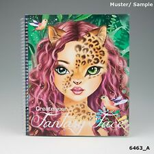 Create Your Fantasy Face Sticker and design book  Depesche Top Model