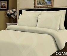 Pair of 100 Pure Egyptian Cotton 500 Thread Count Cream House Wife Pillow Cases