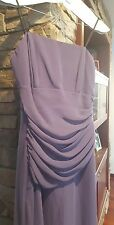 Purple Strapless Evening Formal Ball Gown Bridesmaid Dress lined Sz 12 worn once