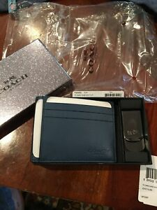 Coach ID Card Case And Money Clip NIB F64553 Box Set