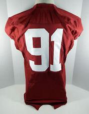 2009-15 Alabama Crimson Tide #91 Game Used Red Jersey Bama00167